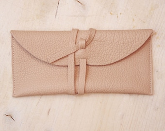 Leather cosmetic case Leather cosmetic bag Leather makeup bag Gift for her Womens leather accessories