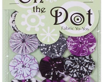On the Dot Fabric Yo-Yo's | YoYo-City | 10 Pc