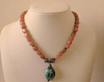 ON SALE Vintage Stone Necklace