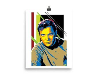 Captain Kirk Pop Art Prints