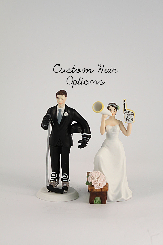 Custom Wedding Cake Topper Hockey Wedding Cake Topper