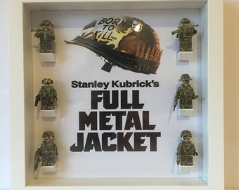 Full Metal Jacket Minifigure Frame, LEGO Compatible