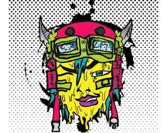 Toxic Tank Girl - Print 8.5x11