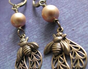 Beaded earrings, metal earrings, filigree, dangle earrings, gold earrings, large earrings, drop earrings, long earrings, metal beads
