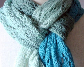 Ella Scarf  Knitting Pattern Spring Time Trilogy Scarf One Lace