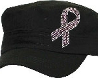 Black Breast Cancer Awareness hat