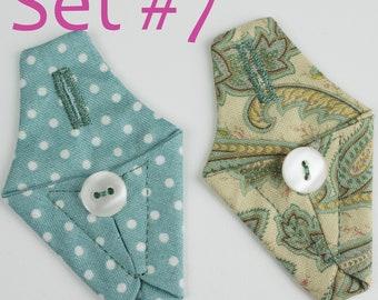 Needle snugs, set of 2, various colours