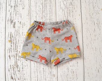 Tiger baby boy shorts, baby shorts, toddler boy shorts, baby boy clothes, baby boy summer outfit, toddler summer outfit, boy clothes