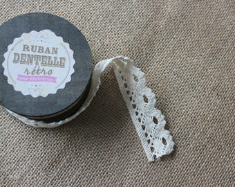Scalloped ivory lace 2 5cmx5m