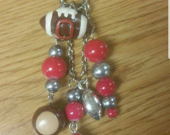 """Ohio State Buckeyes """"Two Way"""" Necklace-Wear it Long or Short"""