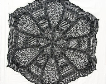 Lace Knitting Pattern  - Irish Cathedral  Shawl PDF