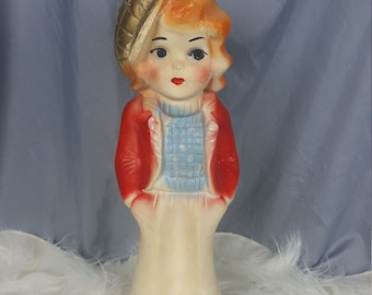 Antique Chalkware Doll 1920's Carnival Prize