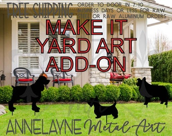 MAKE it YARD ART, Add-On, Plasma Cut Metal, Metal Cut Out, Metal Cutout, Yard Decorations, Holiday Yard Art, Outdoor, Metal Art Yard Decor