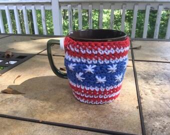 Cup Cozy American Flag