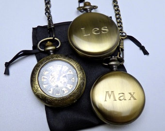 Add on Custom Engraving service for Pocket Watch orders, Only order with watch, For solid case backs only, One per watch, Personalized Gifts