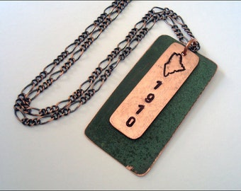 Maine State House Copper Roof Necklace - Limited Edition AR