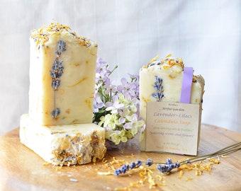 Lavender Lilac Calendula Soap