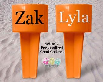 Vacation Sand Spiker - Beach Sand Spiker - Monogrammed Beach Cup Holder - Custom  Beach Cup Holder - Teacher Gifts - Valentine's Day Gift
