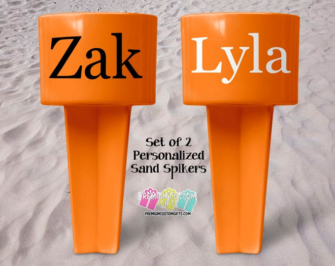 Vacation Sand Spiker - Beach Sand Spiker - Monogrammed Beach Cup Holder - Custom  Beach Cup Holder - Teacher Gifts - Valentine's Day Gift