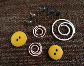 Set of 10 items for scrapbooking