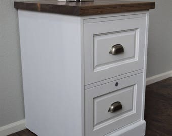 SOLD*** File Cabinet - Farmhouse / Shabby Chic