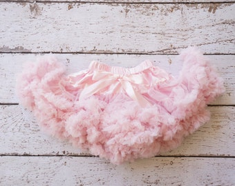 Pettiskirt - Tutu - Girls First birthday Outfit - Pettiskirt - Pink Skirt - Newborn Photo Prop - infant tutu- newborn tutu- girls pettiskirt