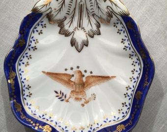 Antique Presidential American Eagle Dish
