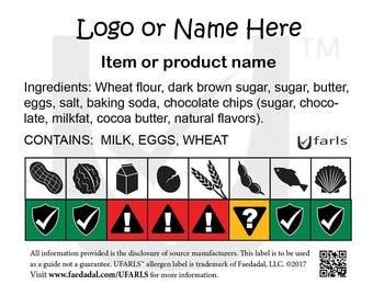 Custom Food Allergen Labels