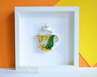 Quilling Paper Wall Art - Have a nice day!