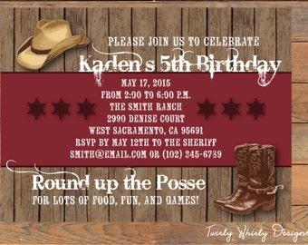 Country Western Cowboy Birthday Printable