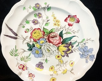 """A huge  """"Copeland spode"""" floral charger/ chop plate"""