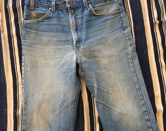 Vintage 1980s Levis 517 Orange Tabs Size 35x32 Made In USA