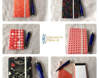 Notepad / memo pad cover  - love focus