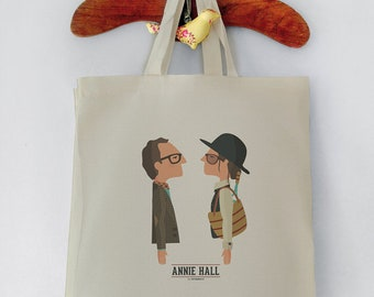Tote Bag, Annie Hall, Woody Allen, Tutticonfetti, Shopping bag, Reusable shopper bag, Grocery bag, Eco tote bag, Canvas Cotton.