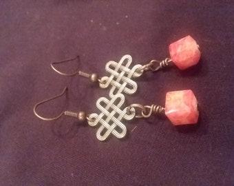 Orange Old World earrings