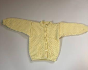 Long Sleeve Yellow Cardi
