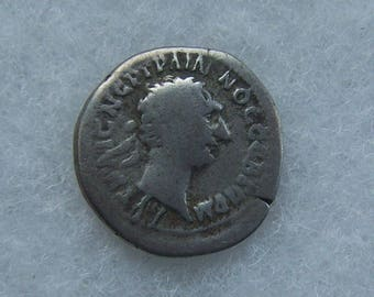 Authentic Ancient Greek Imperial Silver Coin of Trajan