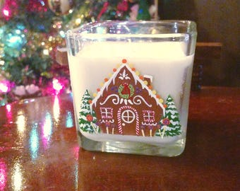Christmas Living Room Decor | Gingerbread House, Gingerbread Candle, Gingerbread House Gift, Xmas Gift, Christmas Gift, Christmas Decor