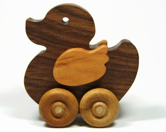 Wood Car, Toddler Toy Car, Toy Duck, Personalized Gift, Birthday, Christmas, Baptism, Baby Shower