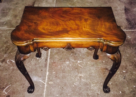 FREE SHIPPING-Antique Irish Mahogany Card Game Table-Provenance From The Mallinckrodt Estate