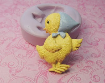 Easter Chick Mold, Silicone Mold, Clay Chick Molds, Fondant Mold, Chocolate, Butter, Wax, Resin Molds, Soap, Easter Mold