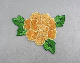 Embroidery Patches Orange Flower Appliques