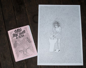 "The ""Wash Your Hands & Repeat. Vol. 1"" OCD-Themed Art Zine with Free Poster"