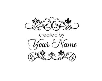 Handle Mounted Personalized custom made rubber stamps C40