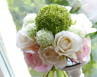 Bridal bouquet * rose & Allium * bouquet