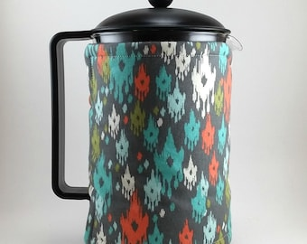 French Press Cozy 12 Cup, Insulated Wrap, Coffee Accessory, Bodum Press, MB0140A