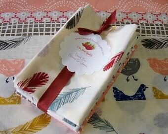 Fabric Bundle   Fat Eights Quilt Bundle   Birch   Jay-Cyn   5 Medium Prints 6 Cuts   Eye Spy Kids Quilt   Hens - Clouds -  Feathers - Flower