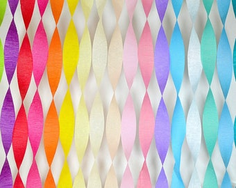 Birthday Decorations Party Decorations Table Decor Birthday Decoration Paper Streamer Crepe Paper DIY Backdrop Banner Baby Shower