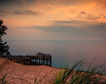 Sand Dunes Photo, Sleeping Bear Photograph, Sunset Photography, Pierce Stocking Drive, Leelanau, Traverse City, Michigan, Pure Michigan