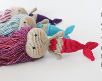 Pdf Pattern, Crochet Amigurumi Pattern, Amigurumi Crochet Mermaid Pattern, Pdf Mermaid, Amigurumi Crochet Doll Girl, The Little Mermaid